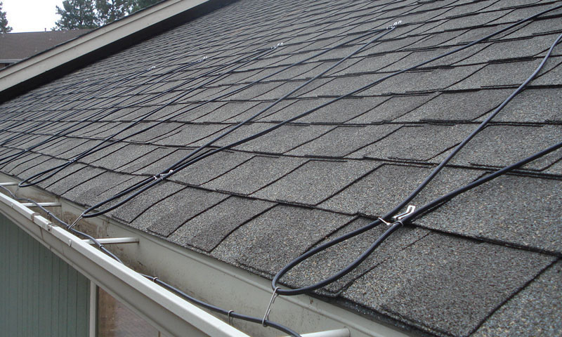 Residential Ice Melt Cable Installation