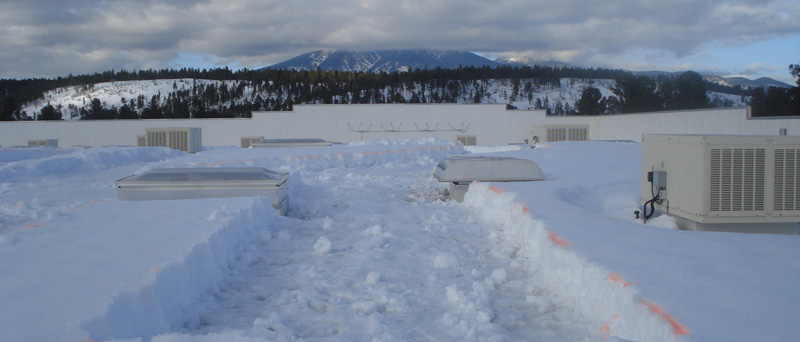 Rooftop Snow Removal For Flagstaff